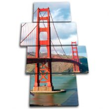 Golden Gate Bridge Landmarks - 13-0110(00B)-MP04-PO